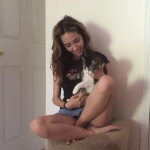 Haley Pullos Shares Adorable Snapshot Giving Her Cat Chloe 'Good Morning Kisses""